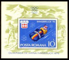 ROMANIA 1976 MNH** - Winter Olympic Games In Innsbruck - Mi B128 - Winter 1976: Innsbruck