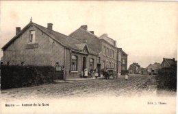 LIEGE     2 CP  Beyne   Avenue De La Gare BAttelage à Cheval   Beyne Heusay   Propriété Renard   Vendeur De ? - Beyne-Heusay