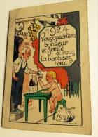 Vin De Table Clos Du Château Bouteille Genre Saint-Galmier Calendrier Petit Format 1924 Baptême Illustrateur Jack - Calendars
