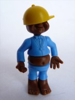 FIGURINE KINDER BEBE NOIR 01 MONTABLE 1980�s