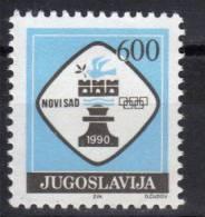Yugoslavia,For Chess Olympiad-Novi Sad '90. 1989.,MNH - Neufs