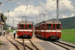 SUISSE LA SAGNE : Croisement De 2 Automotrices  Détails  2ème Scan - Trenes