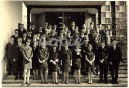 Photo De Classe Lycée Bâle Suisse 1967 Klassenfoto Mittelschule Hauptschule Gymnasium Abitur Basel St JOHANN Isenegger - Anonyme Personen