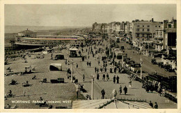 Royaume-Uni - Angleterre - Sussex - Worthing Parade Looking West - Autobus - Voitures - Automobile - 2 Scans - état - Worthing
