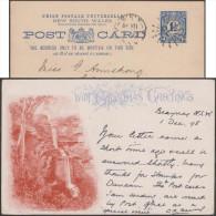 Nouvelle Galles Du Sud 1898. Entier Postal Illustré, De  Blayney à Drogheda, Irlande. Katoomba Falls, Chutes D´eau, Parc - Géologie
