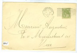 BRIEFOMSLAG Uit 1916 NAAR LOKAAL AMSTERDAM   (8825) - 1891-1948 (Wilhelmine)