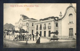 Säo Vicente. *Largo Da Praçinha*Ed. Bazar Central Bonucci & Frusoni. Nueva. Leves Manchas. - Cabo Verde