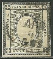 1861 - SARDEGNA - STAMPE - 2 CENT. 20e -  USED - SIGNED + TIMBRINO - EURO 1.650,00 -SPL - Sardaigne