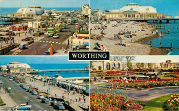 Royaume-Uni - Angleterre - Sussex - Worthing - Multiview - Multivues - Semi Moderne Petit Format - état - Worthing