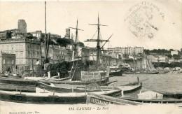 Cachet Militaire 97émé Parc D'artillerie ?  NICE  1914 Sur Cpa CANNES - Militaria