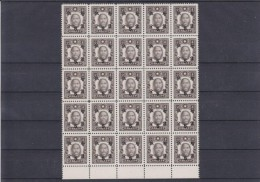 CH-01 JAPAN OCCUPATION. MICHEL # 75,77,78.MNH-**. BLOCK OF 25 STAMPS. - 1943-45 Shanghai & Nanjing