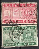 China  Chine : (5016) 1948 Expositions Philateliques SG1001,1002a(o) - China