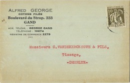 Gent - Gand : Alfred George :  Cotons Filés    (  2 Scans ) - Gent