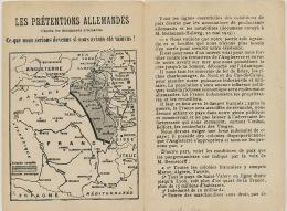 Briey Pretentions Allemandes Minerai Fer Propagande Expansion  Annexion Belgique Hollande Etc - Briey