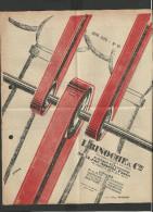 Dépliant Publicitaire 1929 Courroies Diverses - Reclame