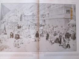 1912   Villegiature  En Suisse  Andre  Devambez Alpes GRAND HOTEL  BAZAR DES ALPES - Old Paper
