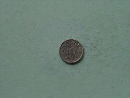 1951 - 10 Ore / KM 396 ( Uncleaned Coin / For Grade, Please See Photo ) !! - Norvège