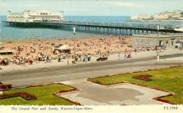 Royaume-Uni - Angleterre - Somerset - The Grand Pier And Sands , Weston Super Mare - Bon état - Weston-Super-Mare