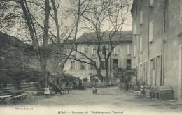 11)   ALET  Les  BAINS  -  Terrasse De L' Etablissement Thermal - France
