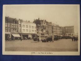 LENS La Place De La Gare 1936  Autobus - Lens