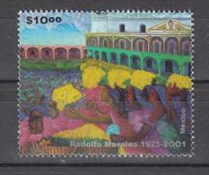 Mexico 2001 Mi Nr 2927 Zegel Uit Blok  Rodolfo Morales - Mexico