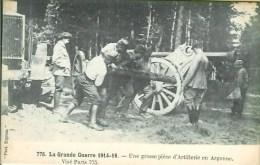 Guerre De 14-18 : Une Grosse Pièce D'artillerie En Argonne - Guerra 1914-18