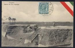 Tripoli. *Interno Del Forte Hamidyè* Ed. Fumagalli & C. Circulada 1911. - Libia