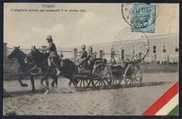 Tripoli. *L'Artiglieria Acorre Agli...* Ed. Fumagalli & C. Circulada 1911. - Libia