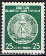 DDR - 1954 - COMPASSO A DESTRA - 25 PF - NUOVO MNH - Dienstpost
