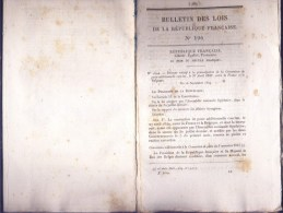 Bulletin Des Lois Du 27 Septembre 1849 – 165 Ans D'âge ! - Convention De Poste Additionnelle Conclue Entre La France Et - Decrees & Laws