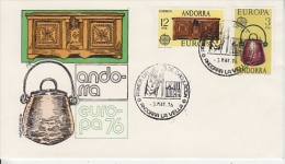 Europa Cept 1976 Andorra Sp 2v FDC (F1029)) - Europa-CEPT