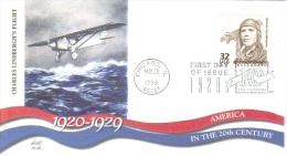 US  -  Fleetwood  FDC -  Charles Lindbergh  -   ´America In The 20th Century´   -  Premier Jour D´Emission - Aerei