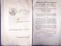 Bulletin Des Lois Du 12 Avril 1850 – 164 Ans D'âge ! - Chemin De Fer De Paris à Sceaux - Construction Du Tombeau De L'Em - Decrees & Laws