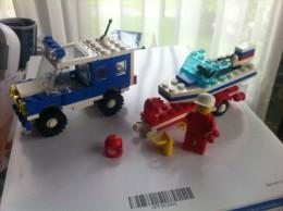 Lego #6698 RV + Speedboat