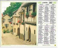 CALENDRIER - ALMANACH DES POSTES ET DES TELEGRAPHES - ANNEE 1987- REGION PARISIENNE - Big : 1981-90