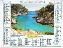 CALENDRIER - ALMANACH DES POSTES ET DES TELEGRAPHES - ANNEE 1998- SEINE ET MARNE - Big : 1991-00