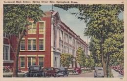 Technical High School Spring Street Side Springfield Massachusetts