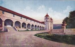 Carlifornia Santa Barbara Garden Of Santa Barbara Mission Founded 1786