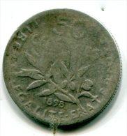 50 Centimes Argent 1898 état B - M004 - Silver Coin - Ohne Zuordnung