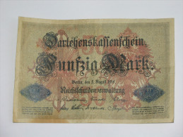 50 Funfzig  Mark - Berlin  1914  - Germany - Allemagne **** EN ACHAT IMMEDIAT **** - [ 2] 1871-1918 : Duitse Rijk