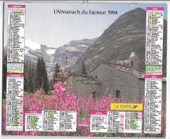 CALENDRIER - ALMANACH DES POSTES ET DES TELEGRAPHES - ANNEE 1994 - SEINE ET MARNE - Big : 1991-00