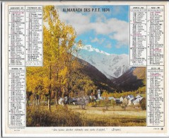 CALENDRIER - ALMANACH DES POSTES ET DES TELEGRAPHES - ANNEE 1974 - REGION PARISIENNE - Calendars