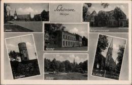 ! Alte Ansichtskarte Schönsee In Westpreußen, Mit Bahnhof - Westpreussen