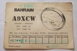QSL,RADIO AMATEUR-BAHRAIN - Radio Amateur