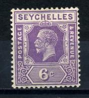 SEYCHELLES   1921    6c  Deep  Mauve      MH - Seychelles (...-1976)