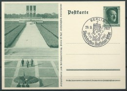 B.14.AUG.317.   BLANCO   BRIEFKAART  VAN  HET  DUITSE RIJK  . 1937.  STAATSTREFFEN. - Alemania