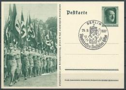 B.14.AUG.319.   BLANCO   BRIEFKAART  VAN  HET  DUITSE RIJK  . 1937.  M STAATSTREFFEN. - Alemania