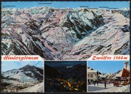 Panoramakarte Österreich - Hintertal, Hintermoos - Maria Alm Und Umgebung - Gelaufen Mit Werbestempel - Landkarten