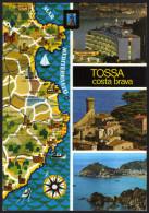 Landkarte Spanien - Costa Brava Und Umgebung - Gelaufen - Landkarten