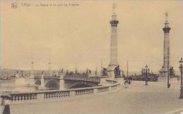 Belgium Brussels La Meuse et le pont de Fragnee